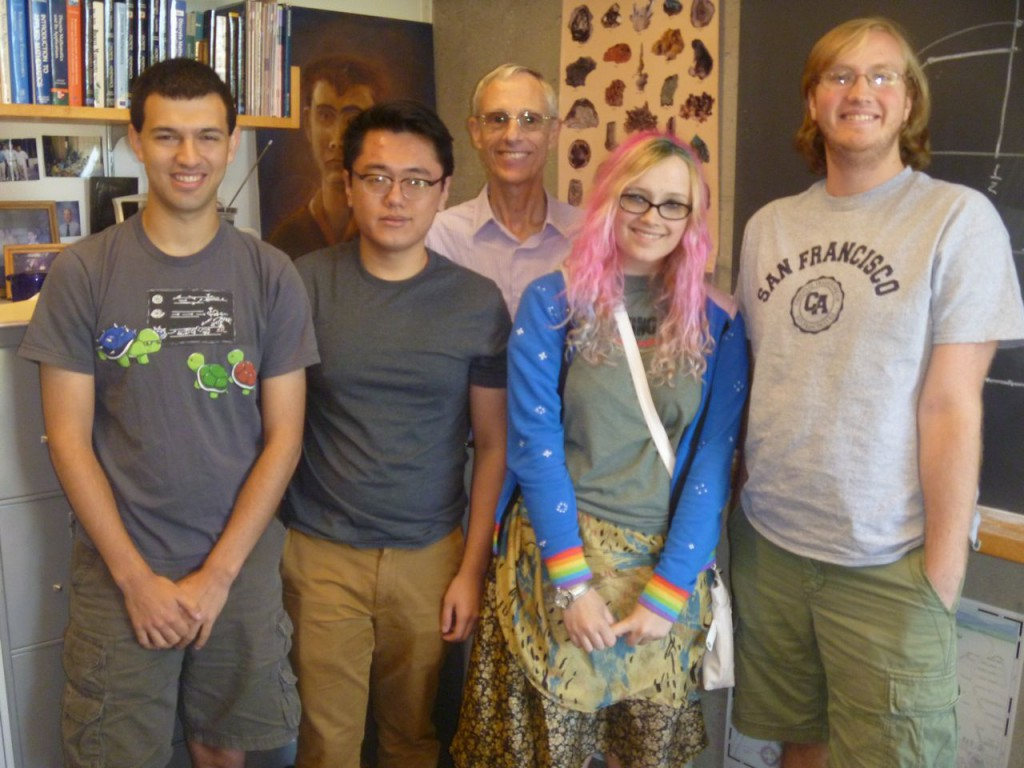 morgan and students featured in ams mathematical moment the small undergraduate mathematics research 2013 geometry group byron perpetua david hu frank morgan maggie miller paul gallagher
